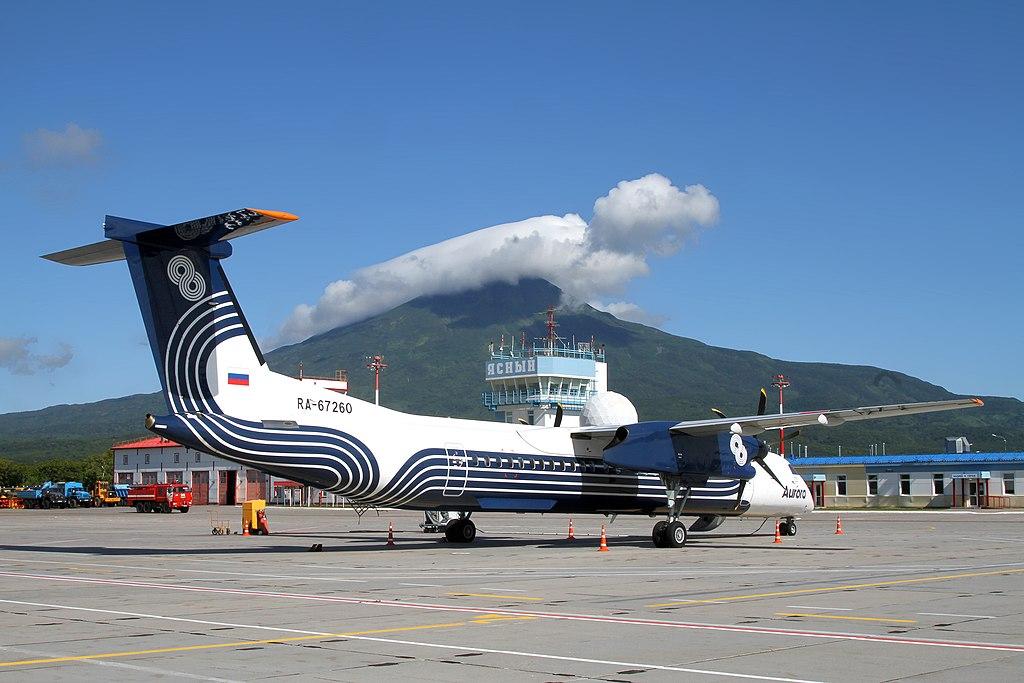 Avião Dash 8-400 Aurora Airlines