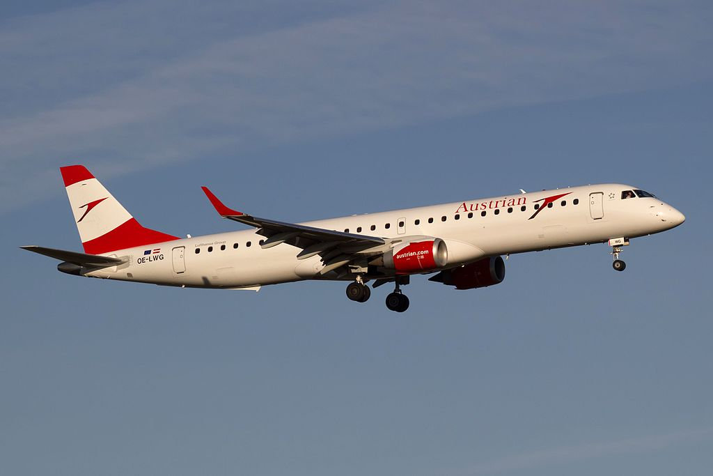 Avião Embraer E195 Austrian Airlines