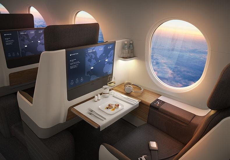 Avião Boom Supersonic Overture Interior