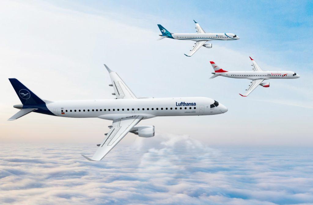 Embraer E-Jets Lufthansa Dolomiti Austrian