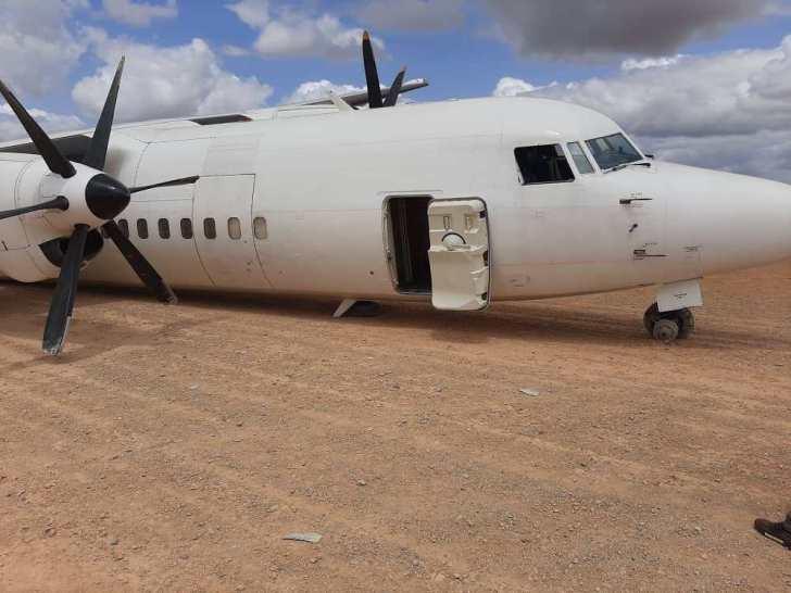 Fokker 50 incidente pouso Somália