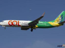 Avião Boeing 737-800 Gol Linhas Aéreas Canarinho