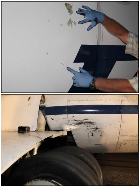 ATR 42 TAROM Danos pneus estourados pouso