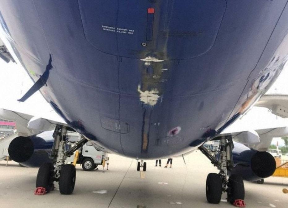 Danos Cauda Tail Strike Sukhoi Superjet Yakutia