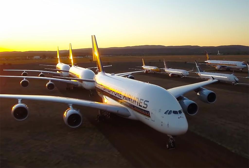 A380 Singapore Aviões