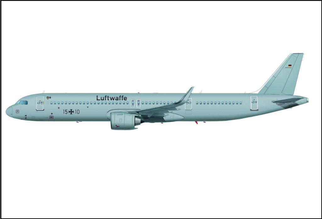 Airbus A321LR ACJ Luftwaffe
