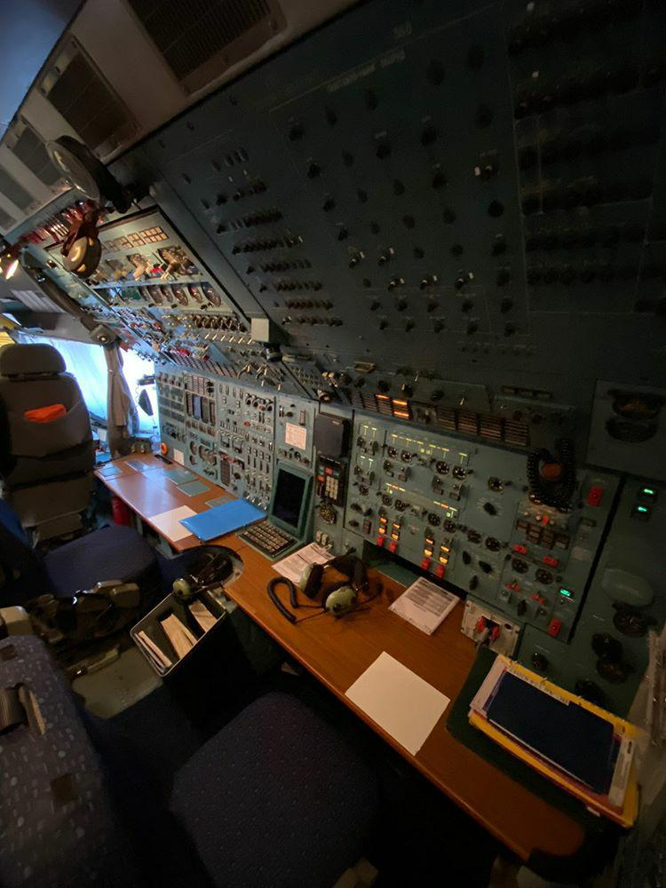 Avião Antonov AN-124 Ruslan Interior Cockpit