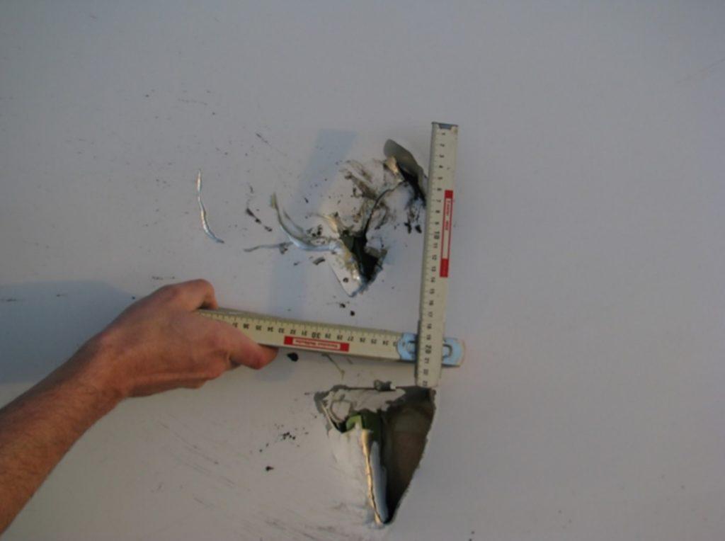 BFU dano fuselagem 747 perdeu flap