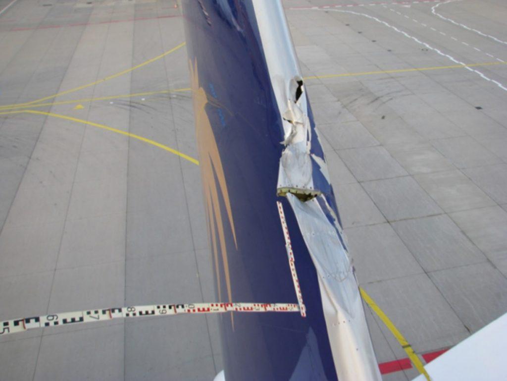 BFU dano estabilizador 747 perdeu flap