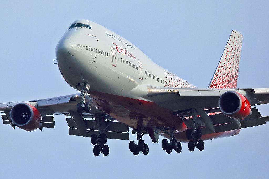 Avião Jumbo Boeing 747-400 Rossiya