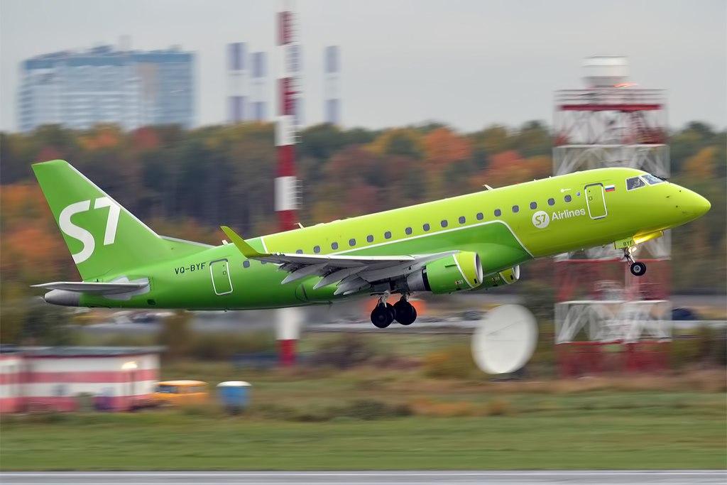 Avião Embraer E170 S7 Airlines