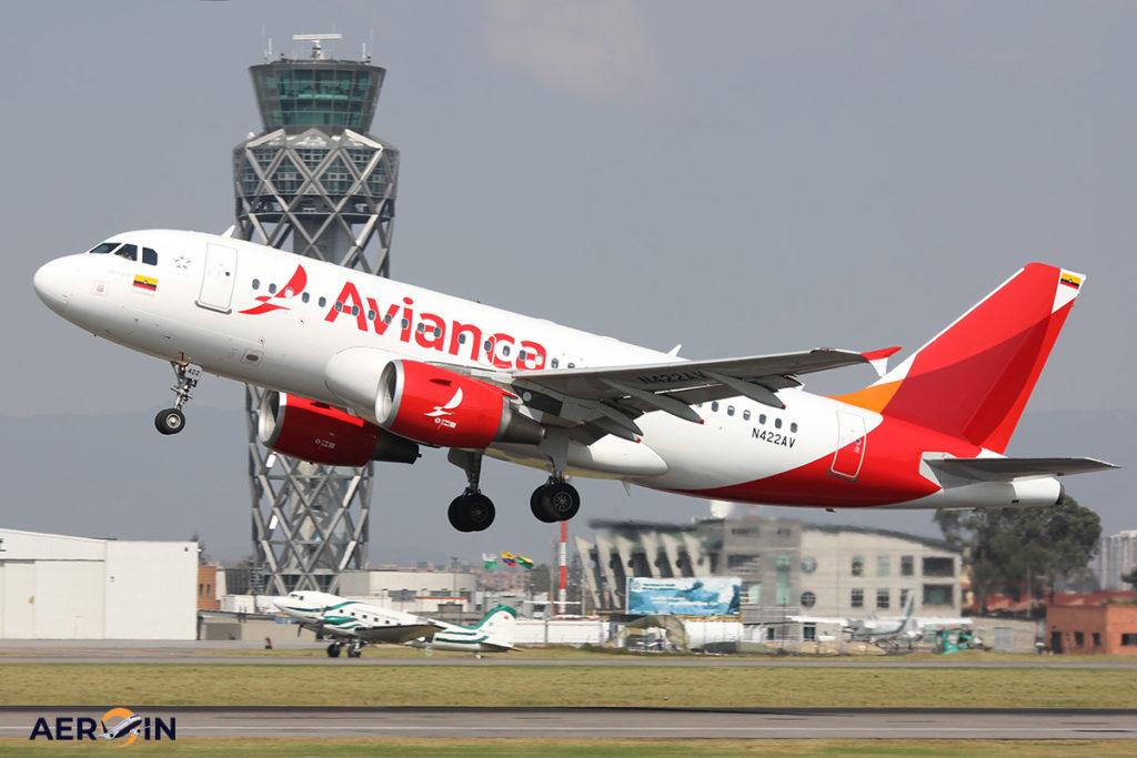 Avião Airbus A319 Avianca
