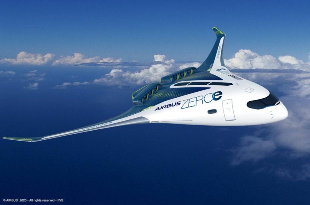 Airbus Avião Asa Mista Conceito ZEROe
