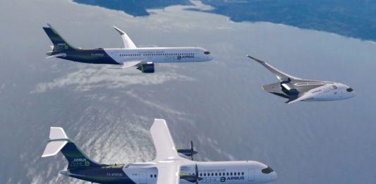 Airbus Conceito ZEROe Formação