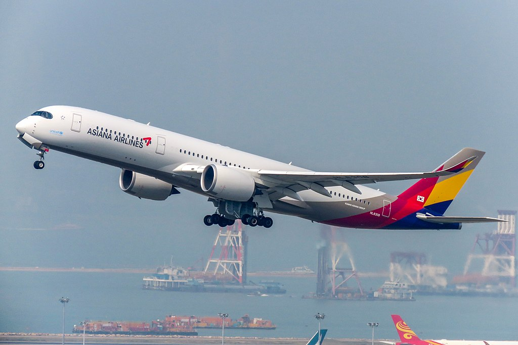 Avião Airbus A350-900 Asiana Airlines