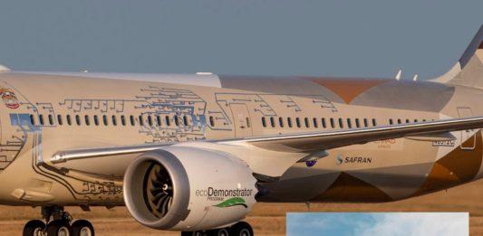 Avião Boeing 787-10 ecoDemonstrator Microfones