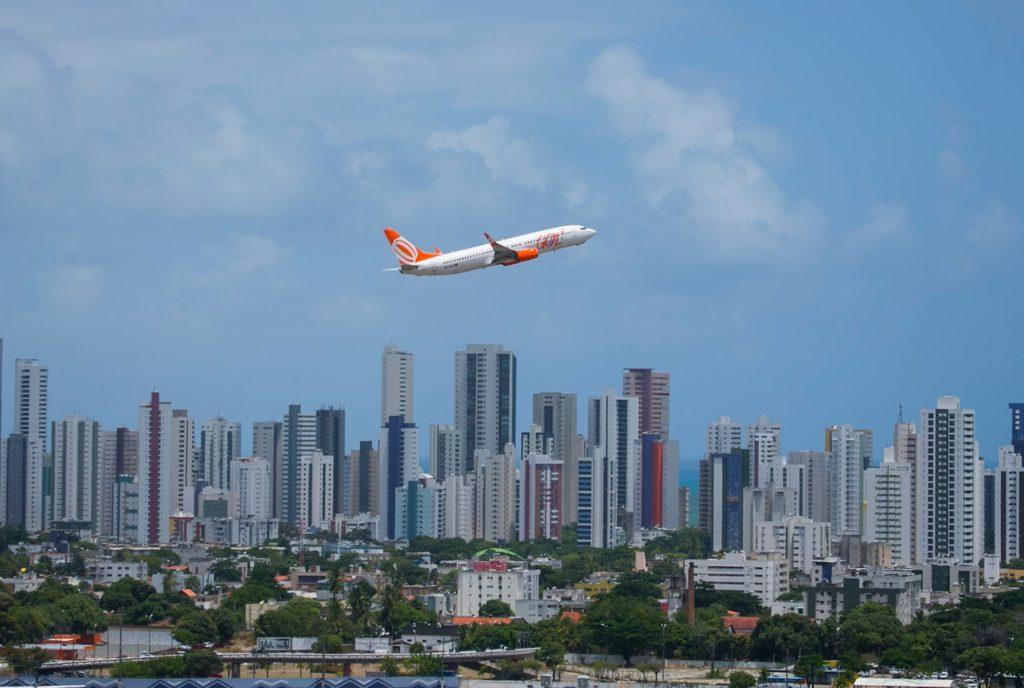 Avião Decolagem Aeroporto