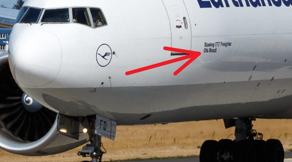Lufthansa Cargo 777F D-ALFD Olá Brazil