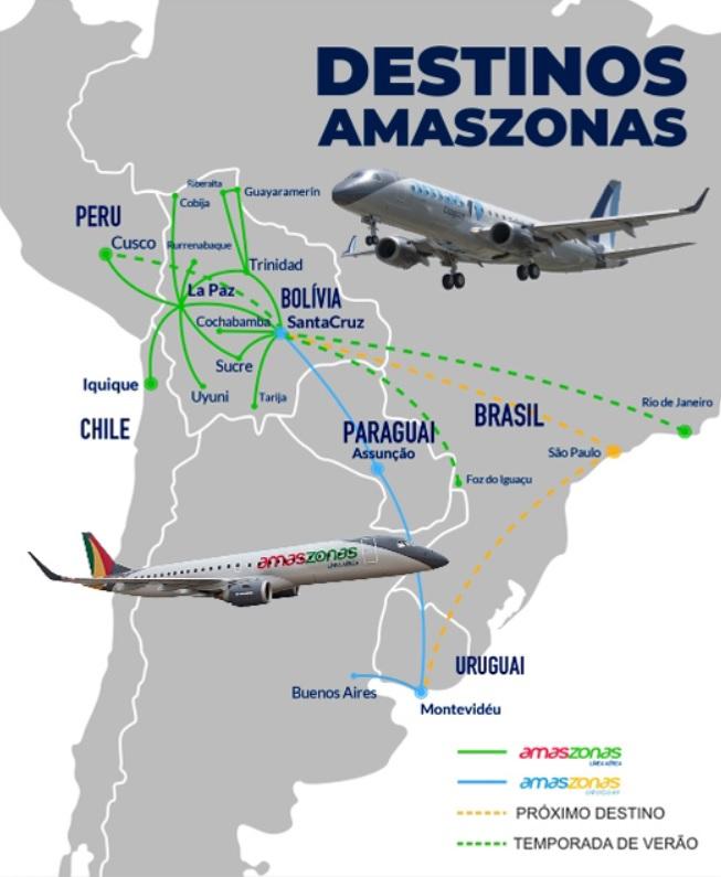 Amaszonas mapa de rotas setembro 2020