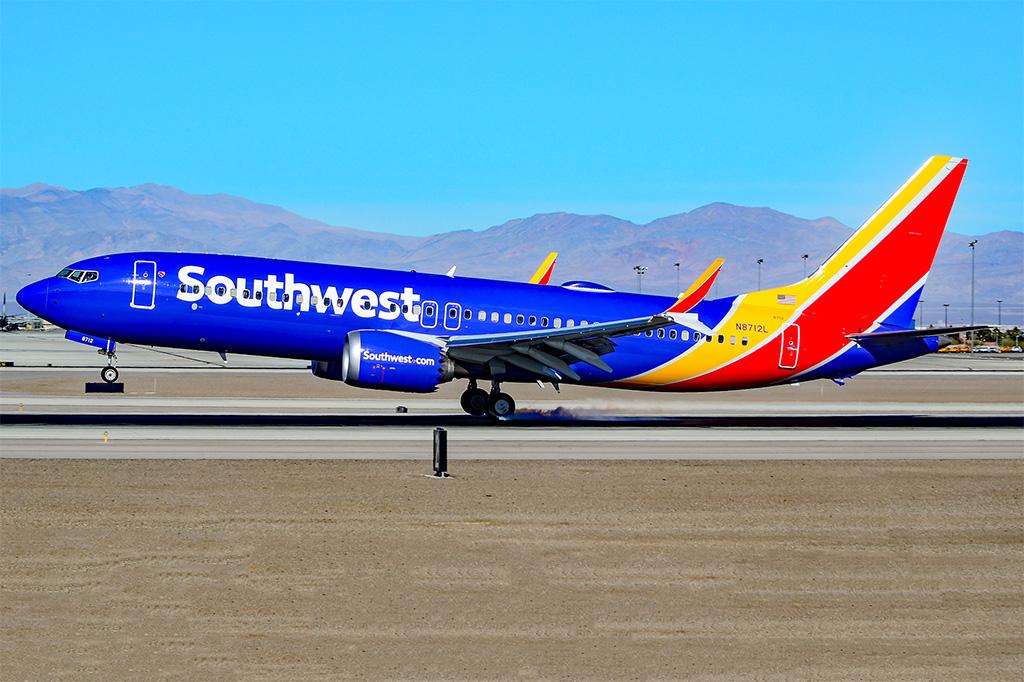 Avião Boeing 737 MAX 8 Southwest