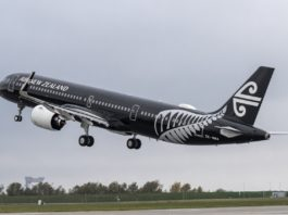 Avião Air New Zealand Airbus A321neo