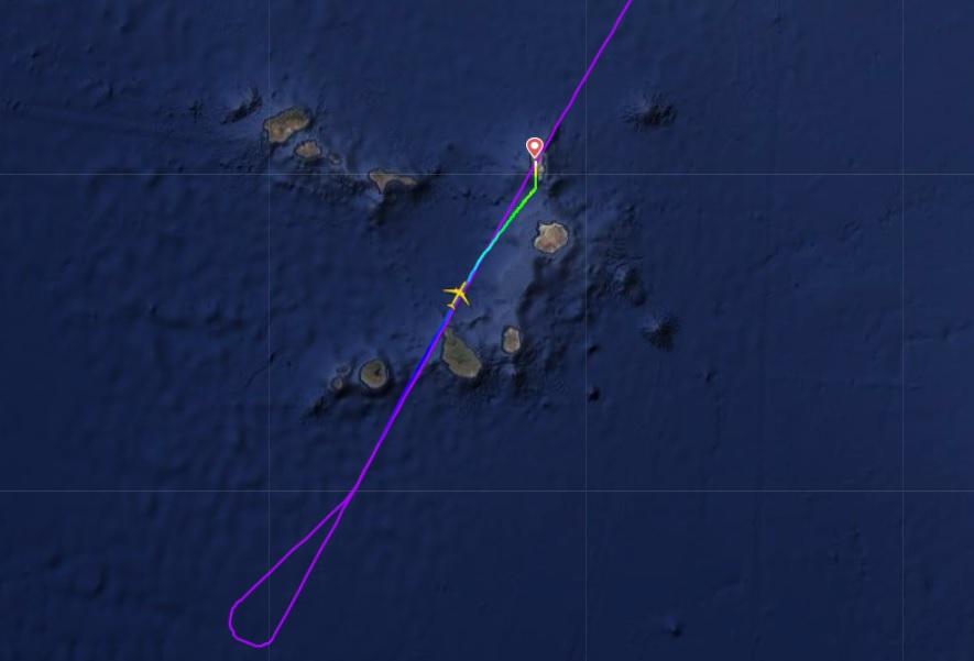 FlightRadar24 Voo A330neo Azul Desvio Ilha do Sal