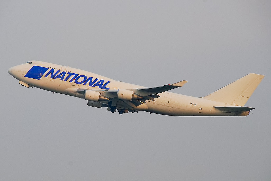 Avião Boeing 747-400F National Airlines Cargo