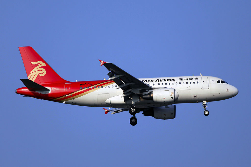 Avião Airbus A319 Shenzhen Airlines
