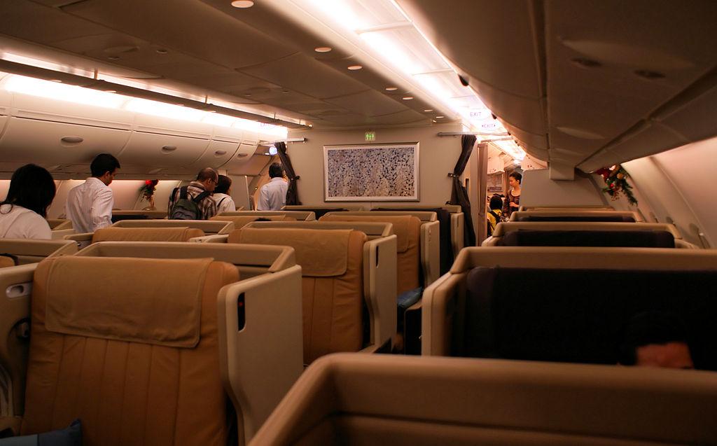 Avião Airbus A380 Singapore Airlines Classe Executiva