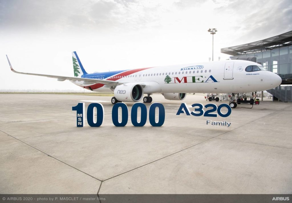 MEA Airbus A321neo 10000 A320