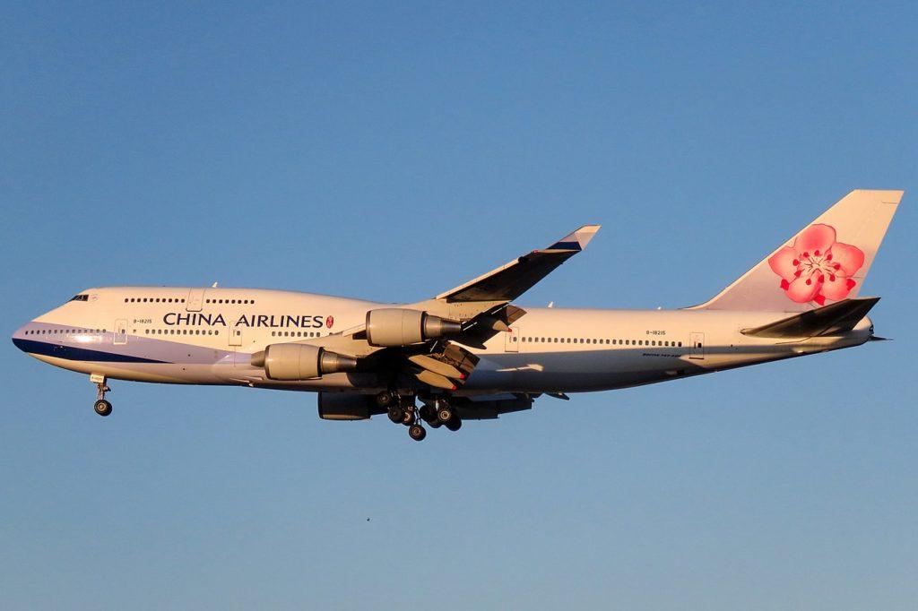 Avião Último Boeing 747-400 produzido China Airlines