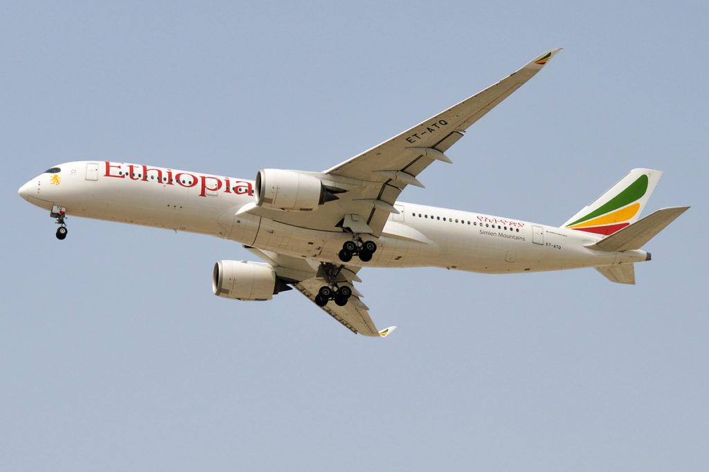 Avião Airbus A350-900 Ethiopian Airlines