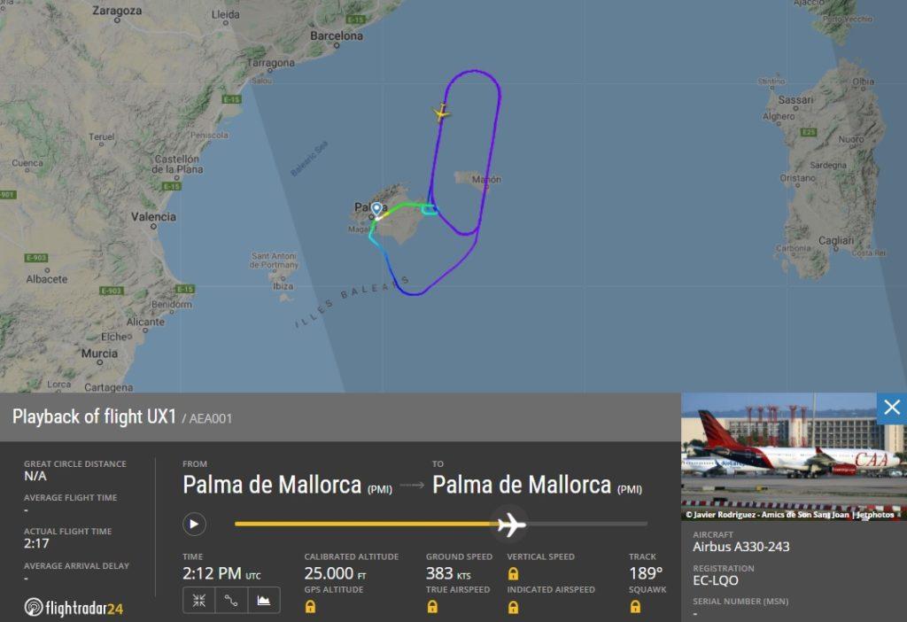 FlightRadar24 Voo A330-200 CAA Congo