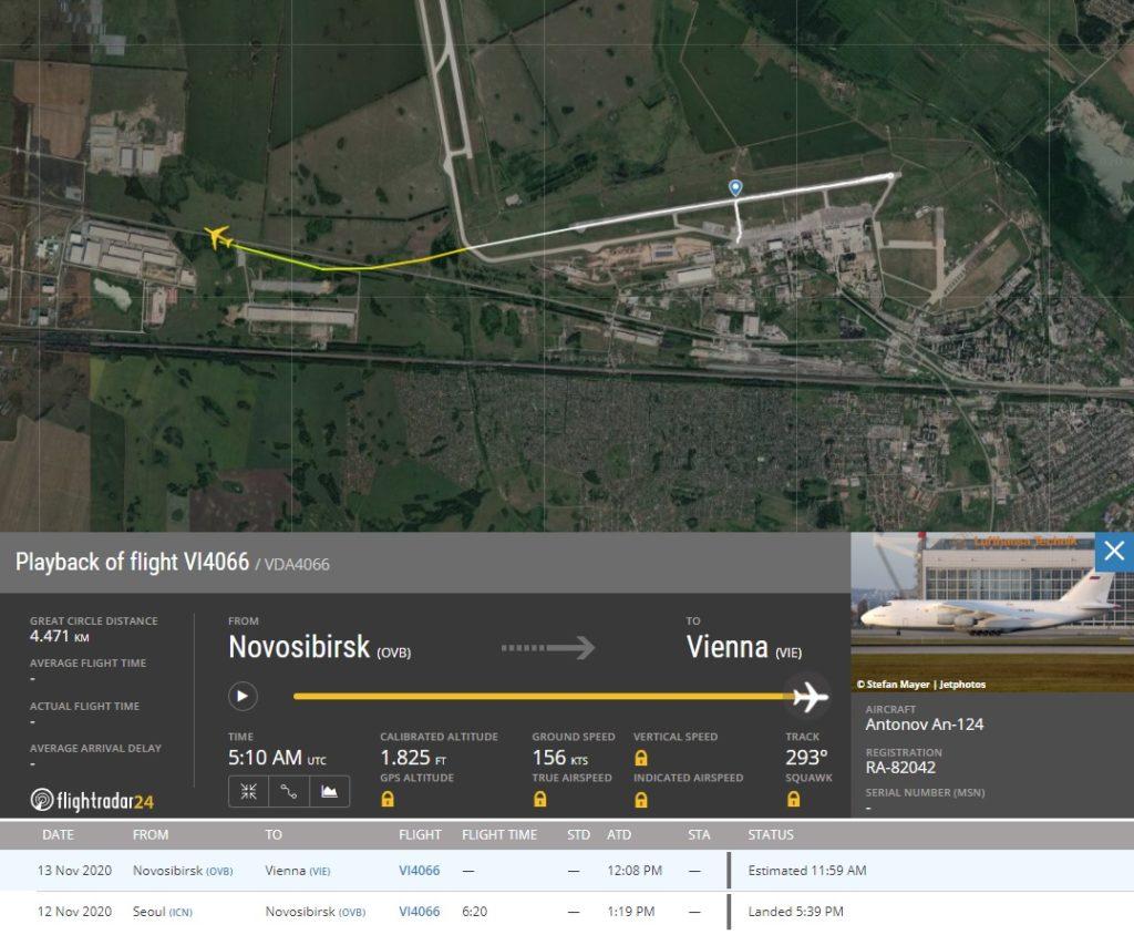FlightRadar24 Voo Antonov AN-124 Volga Perda Sinal