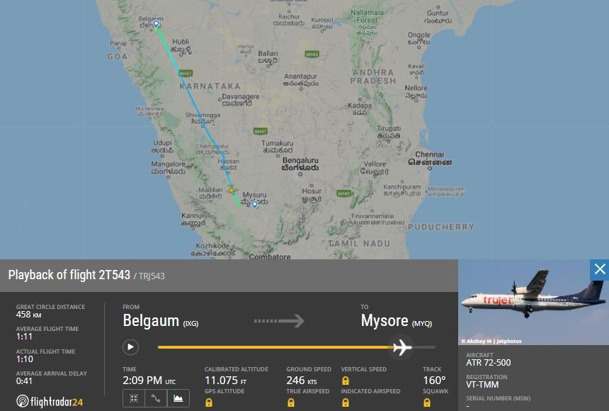 FlightRadar24 ATR 72 Trujet Pouso Duro Quebra Trem