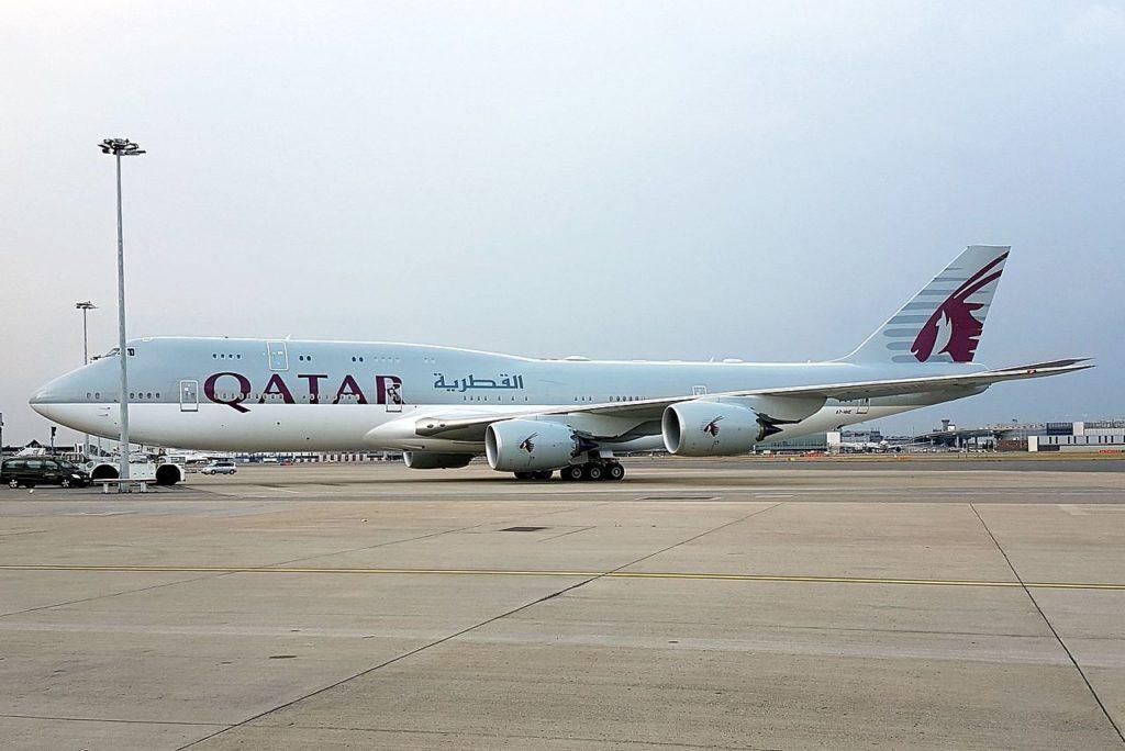 Avião Boeing 747-8I Qatar Amiri Flight