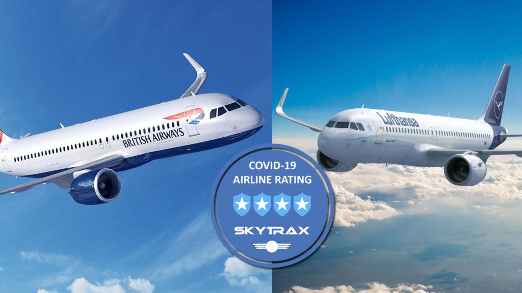 Skytrax British Lufthansa Covid 4 Estrelas
