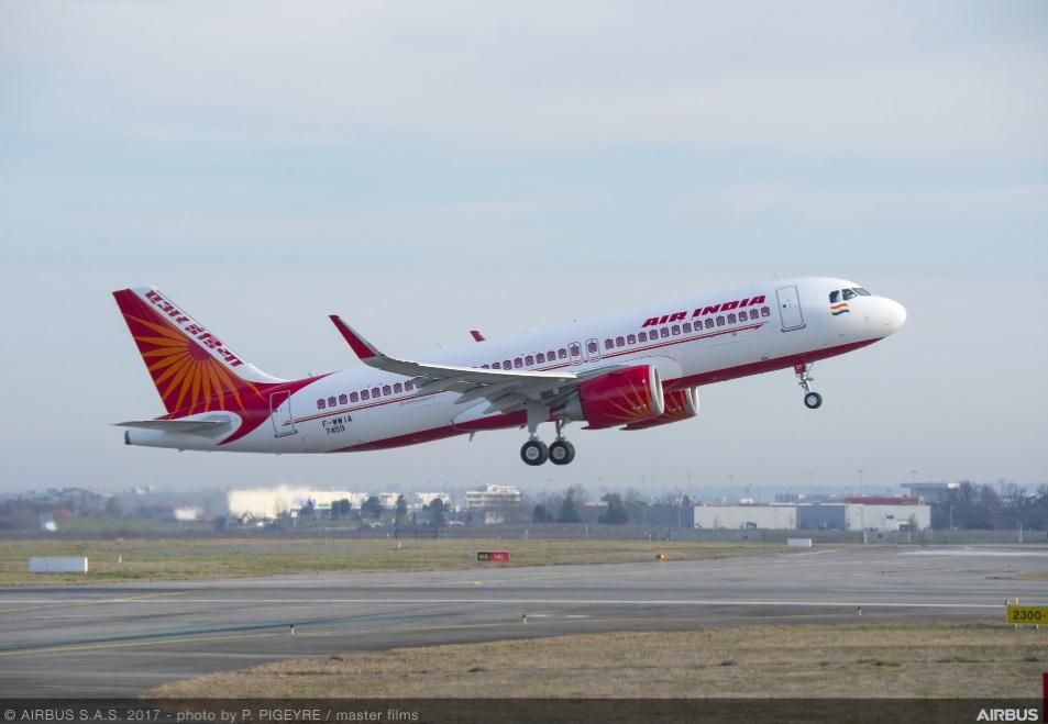 Avião Airbus A320neo Air India