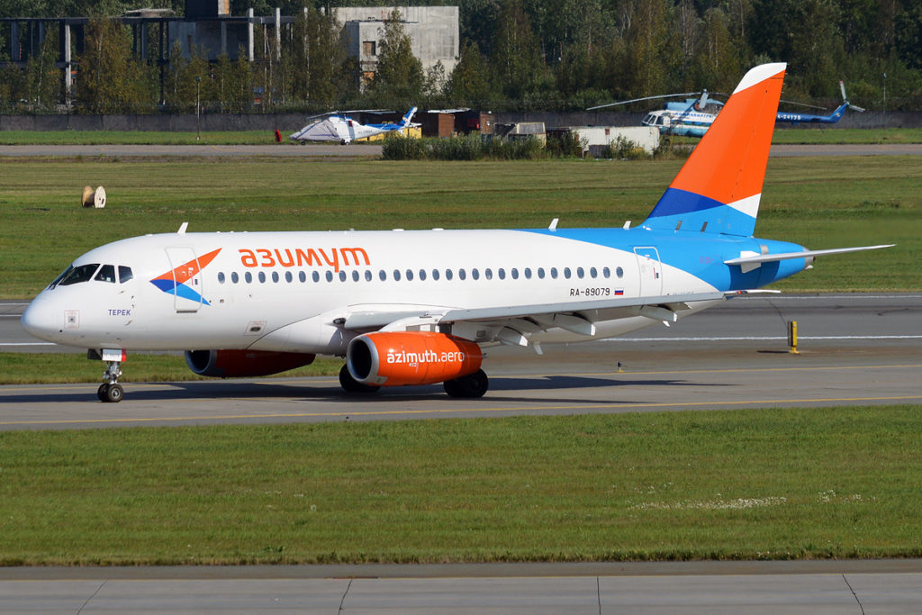 Avião Sukhoi Superjet SSJ 100-95 Azimuth