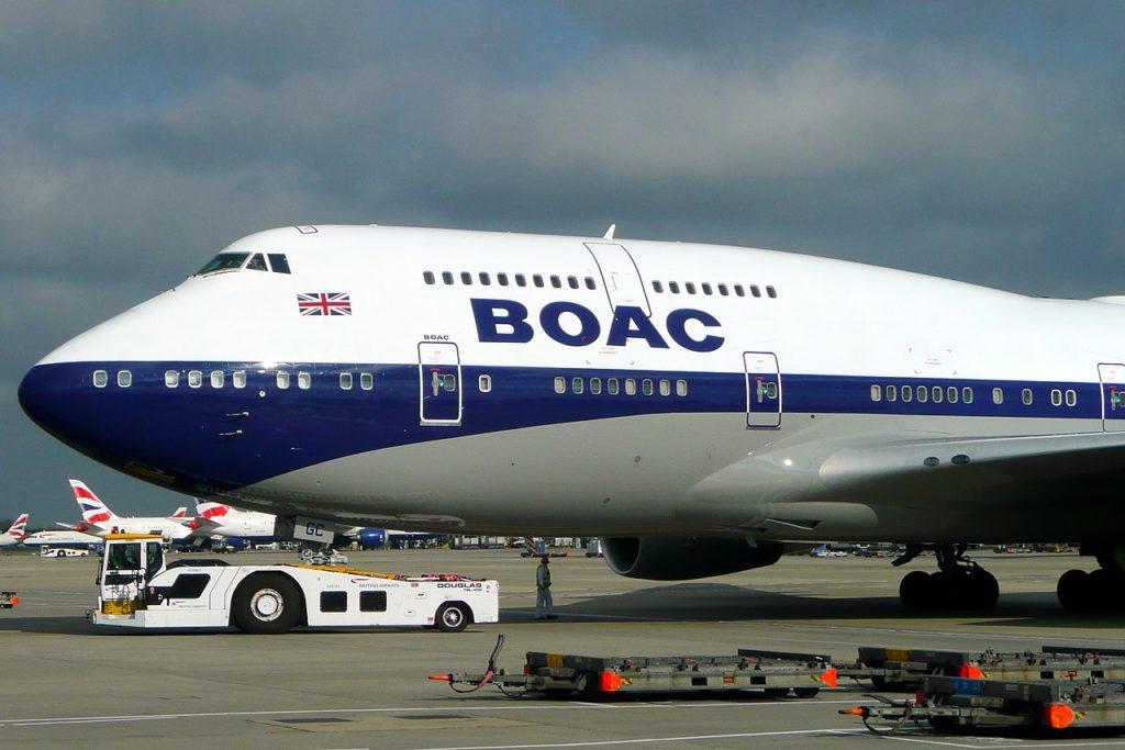Avião Boeing 747-400 Jumbo British Airways BOAC