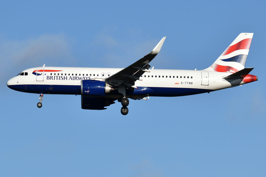 Avião Airbus A320neo British Airways