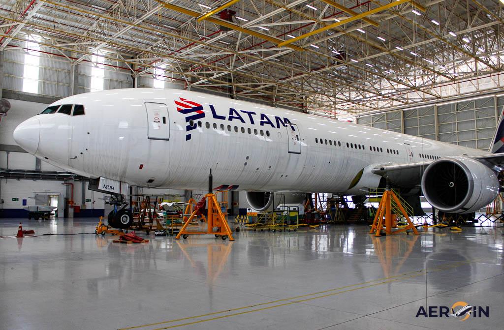Latam manutenção aeronave 777