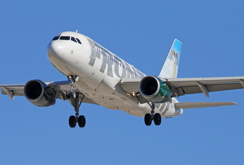 Avião Airbus A319 Frontier Airlines