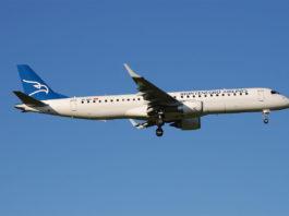 Avião Embraer E195 Montenegro Airlines