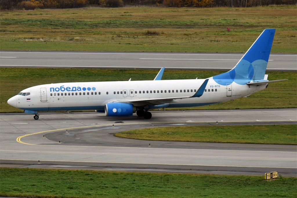 Avião Boeing 737-800 Pobeda