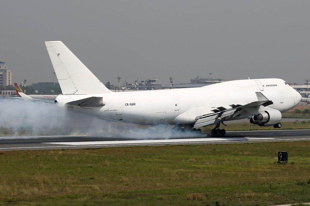 Avião Boeing 747-400F Jumbo Aerotranscargo