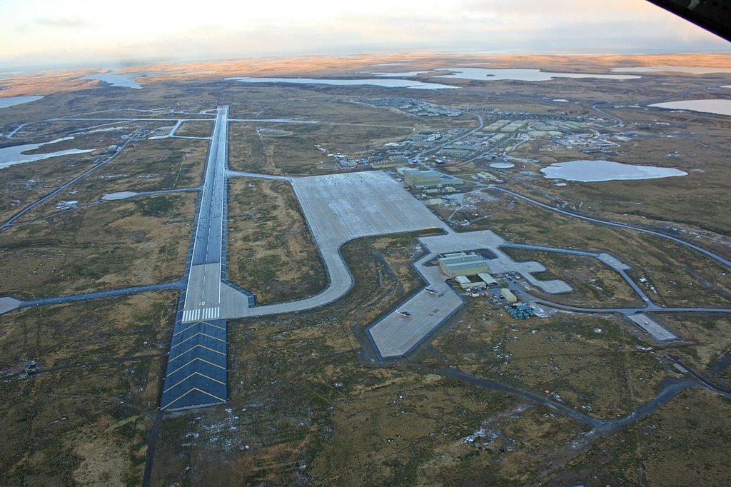 Falklands Malvinas Aeroporto Mount Pleasant RAF
