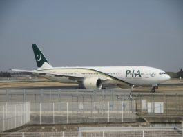 Avião Boeing 777-200ER PIA Pakistan International Airlines AP-BMH