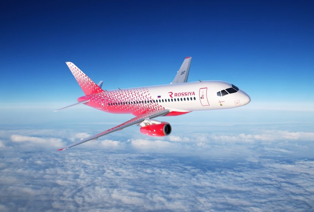 Avião Sukhoi Superjet 100 SSJ 100 Rossiya Airlines