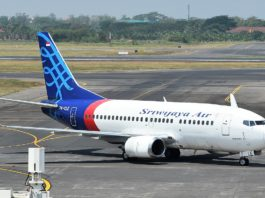 Avião Boeing 737-500 Sriwijaya Air Indonésia